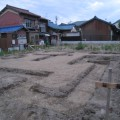 津島市 「ホームシアター&水槽のあるおしゃれなリビングの家」 地盤補強工事