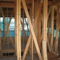 津島市 大きな吹抜けのある家 軸組工事1