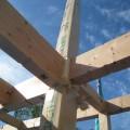 津島市 大きな吹抜けのある家 建て方2