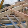 津島市 大きな吹抜けのある家 建て方4